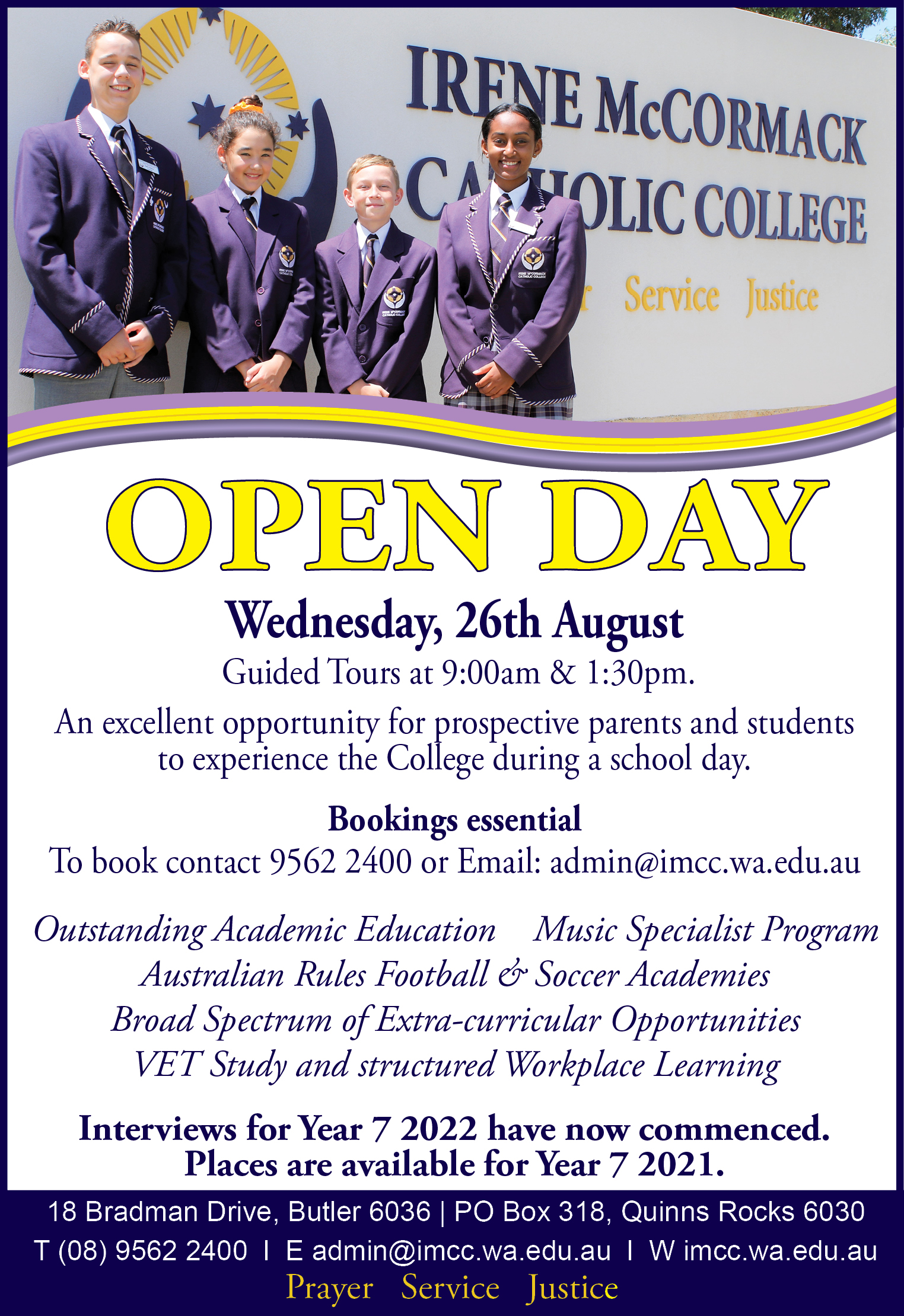 Open Day August 2020